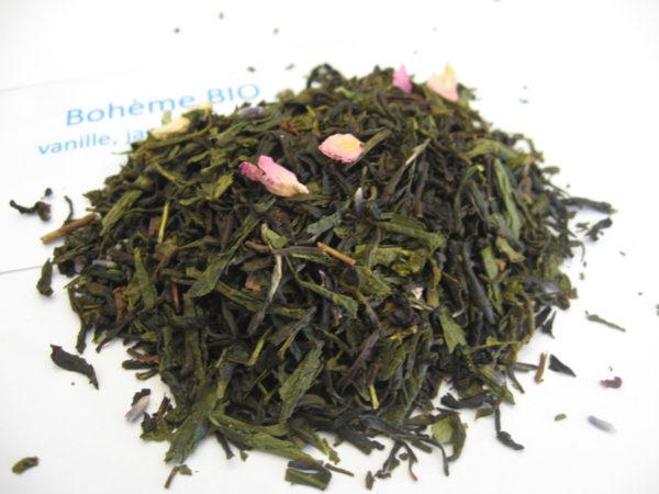 Bohème BIO - Thé vert aromatisé vanille et fleurs - en aparthé