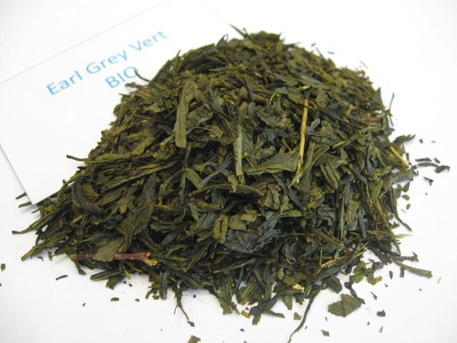 Earl Grey BIO - Thé vert aromatisé bergamote - en aparthé