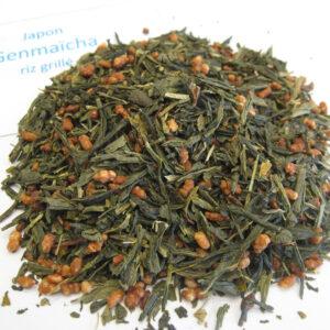 Genmaïcha, thé vert du Japon au riz grillé - en aparthé