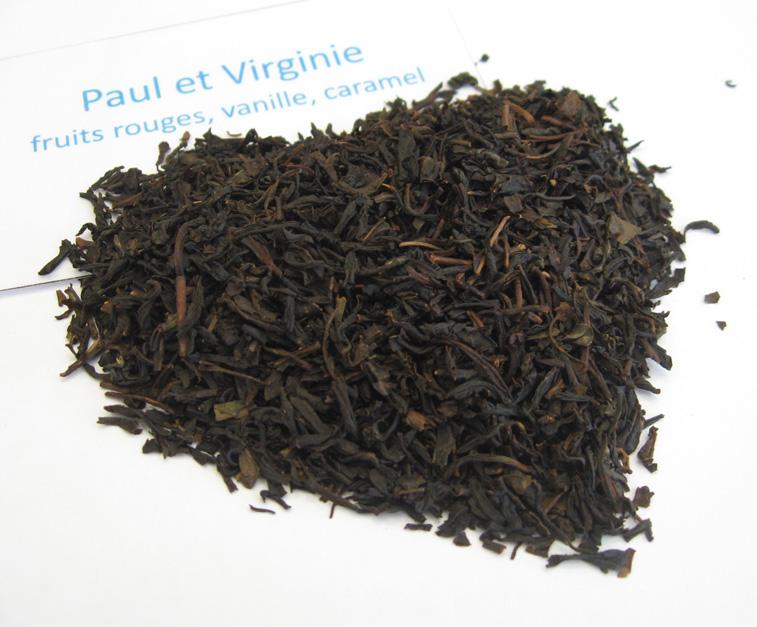 Paul et Virigine - Thé noir aromatisé fruits rouges/épices - en aparthé
