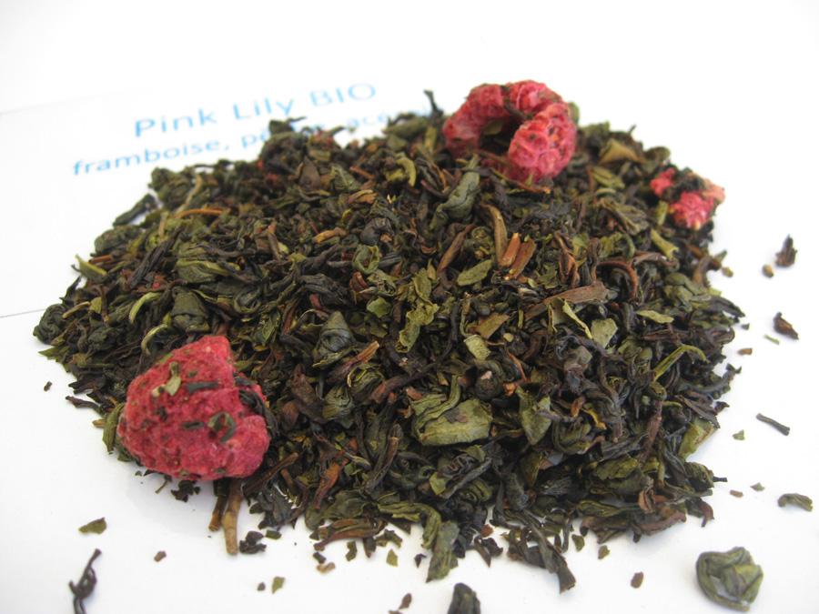 Pink Lily BIO - Thés noir/vert/oolong aromatisé - en aparthé