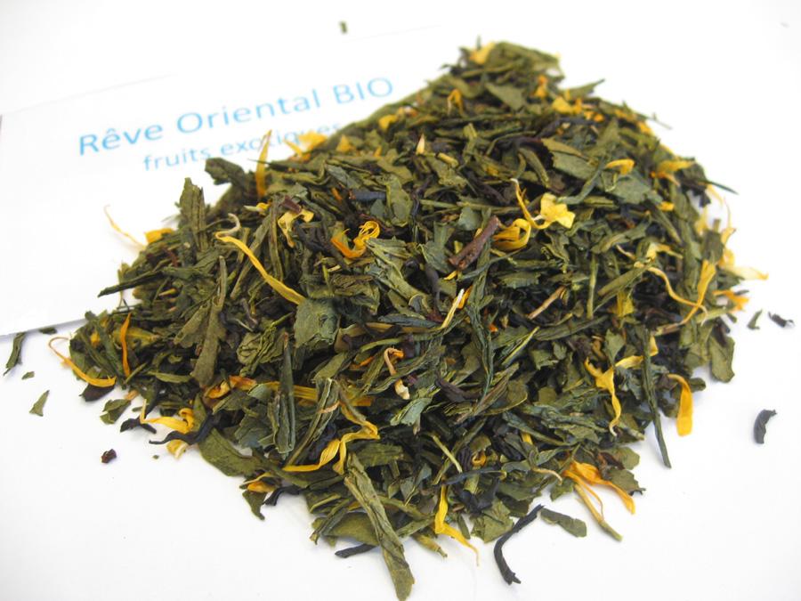 Rêve oriental BIO - Thé vert aromatisé exotique - en aparthé