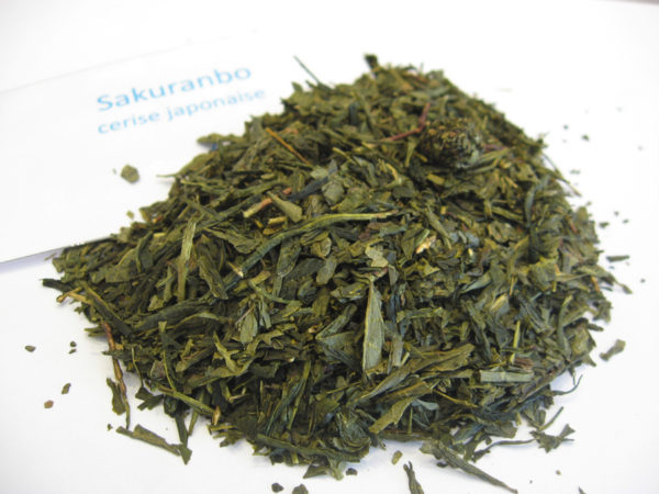 Sakuranbo - Thé vert aromatisé cerise - en aparthé