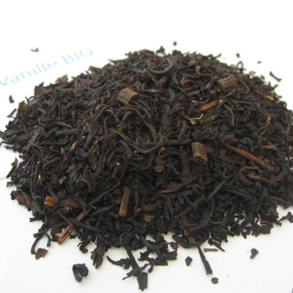 Vanille BIO - Thé noir aromatisé - en aparthé