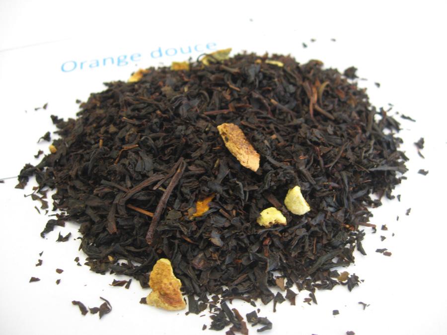 Orange Douce - Thé noir aromatisé - en aparthé