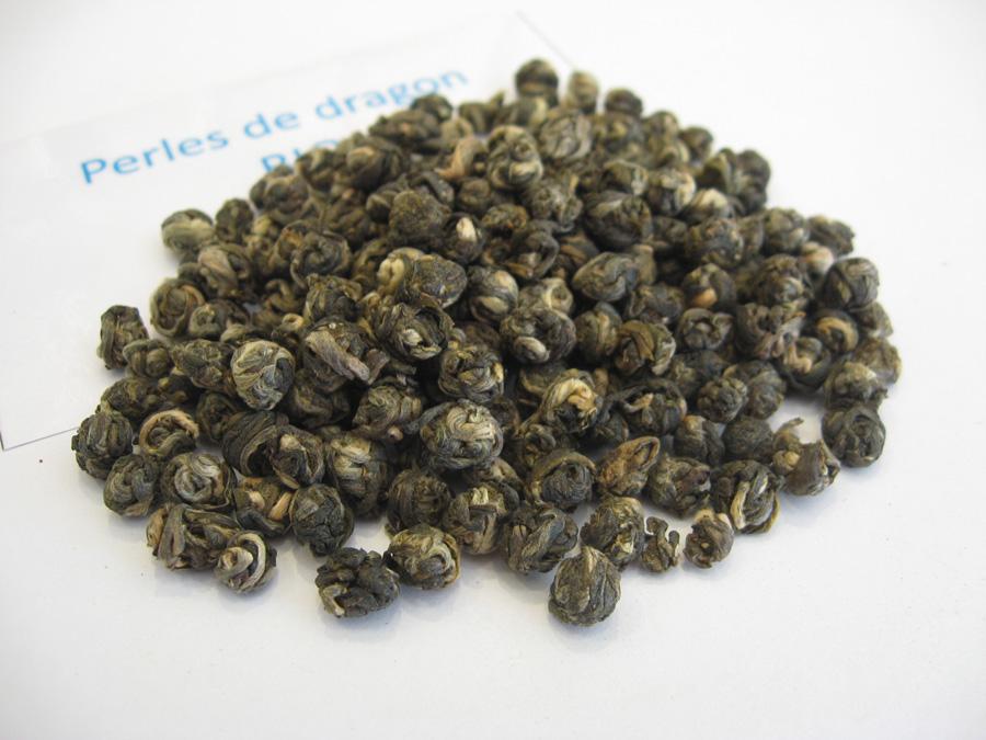 Perles de dragon BIO - Thé vert parfumé jasmin- en aparthé