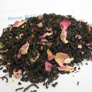 Rose BIO - Thé noir aromatisé - en aparthé
