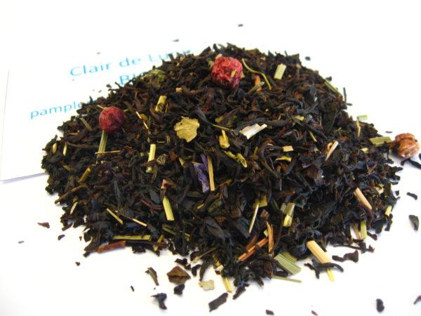Clair de lune BIO - Thé noir aromatisé pamplemousse, cassis et violette - en aparthé