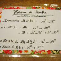 horaires pendant les fêtes - en aparthé - Boutique à Lyon