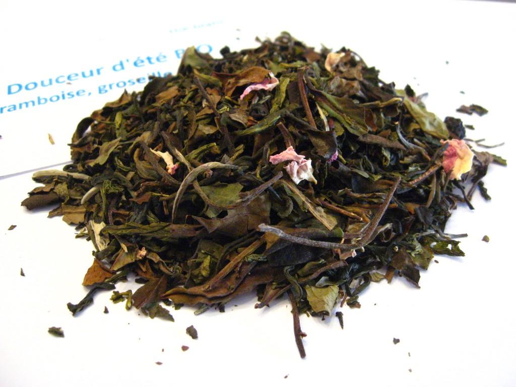 douceur d'été bio - en aparthé - thé blanc - Boutique de thé en ligne