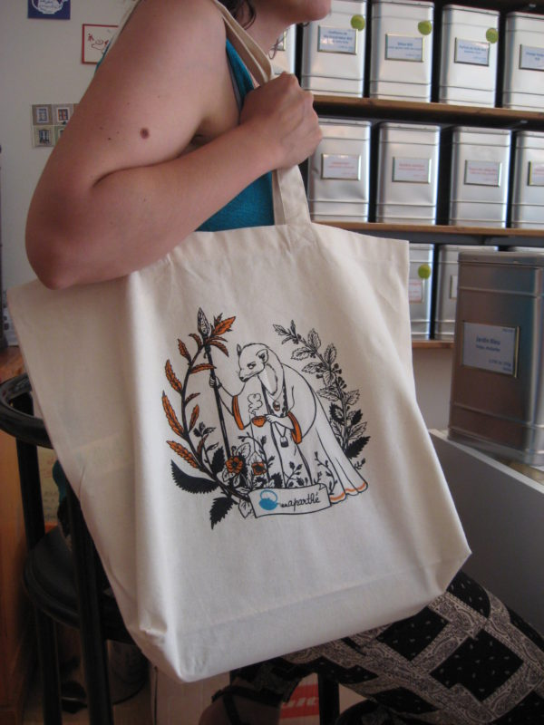 Tote-bag illustré - en aparthé - Boutique en ligne