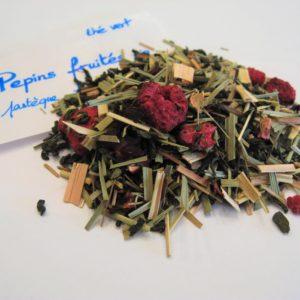 thé vert aromatisé Pépins fruités BIO - en aparthé Lyon - Boutique en ligne