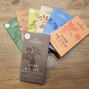Tablettes de chocolat Café Tasse - en aparthé Lyon - Boutique en ligne