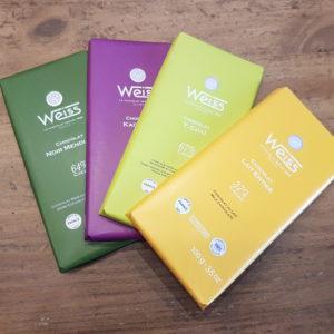 Tablettes de chocolat WEISS - en aparthé Lyon - Boutique en ligne