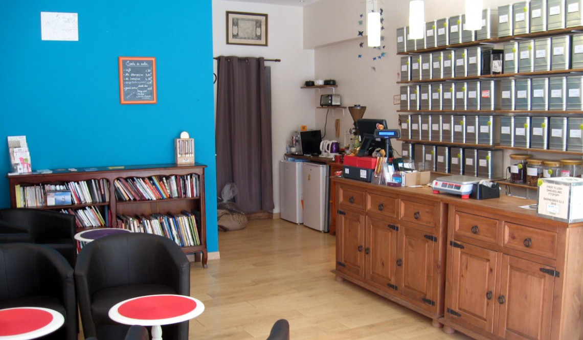 Salon Boutique de thé et café en aparthé